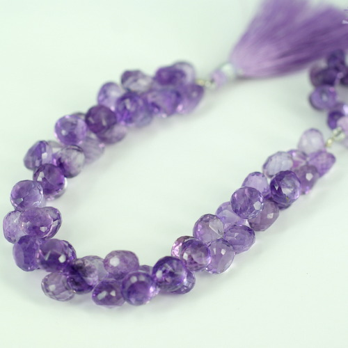 Amethyst Onion Faceted Beads