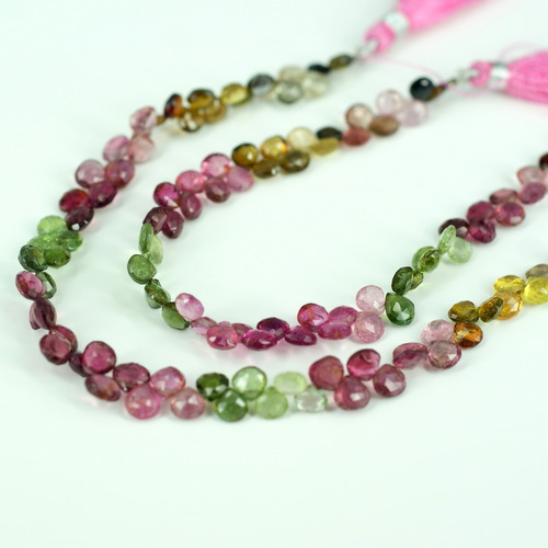 M.TOURMALINE PEAR FACETED BEADS