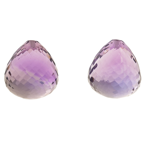 AMETHYST ONION EARRING PAIR