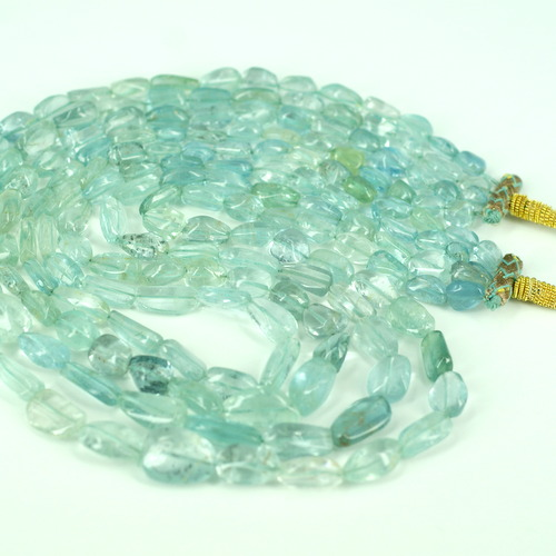 AQUAMARINE PLAIN NUGGET BEADS