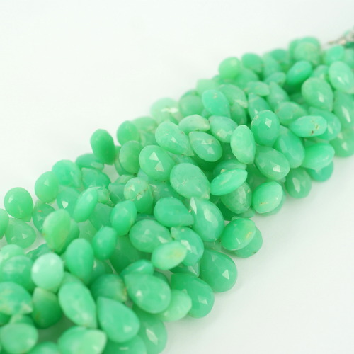 Chrysoprase Pear faceted beads