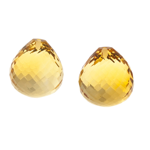 CITRINE ONION EARRING PAIR