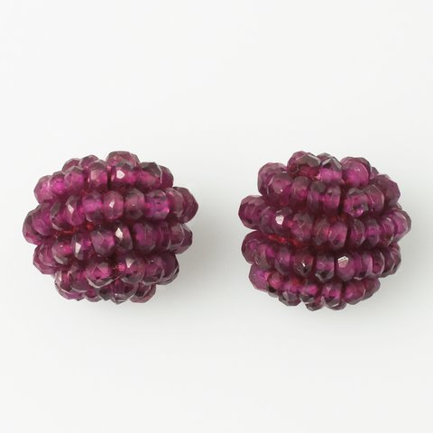 Garnet Ball Earring Set