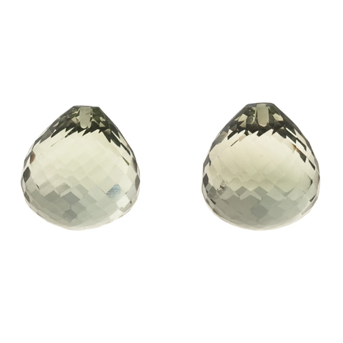 GREEN AMETHYST ONION EARRING PAIR