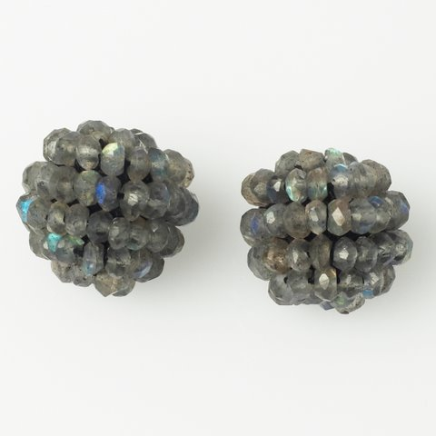 Labradorite Ball Earring Set