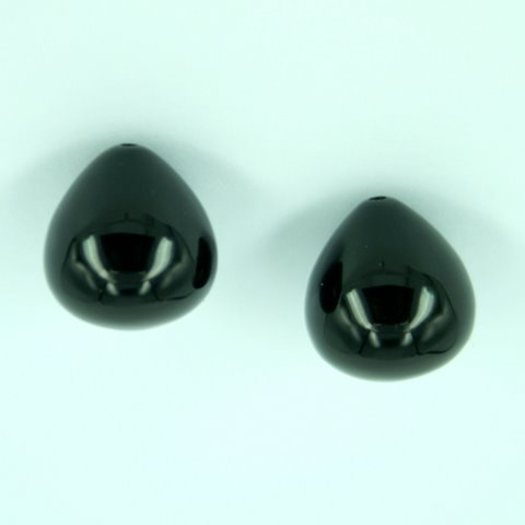 Onyx Onion Shape Earring Set