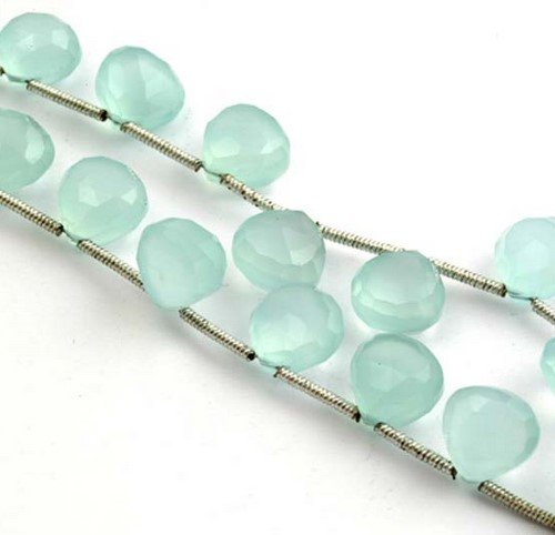 CHELCEDONI PEAR FACETED BEADS
