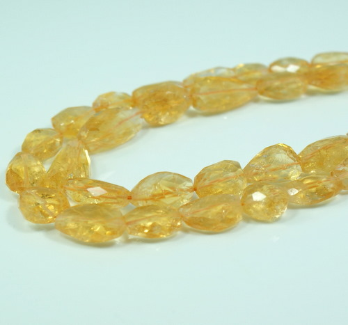 Citrine Nugget Faceted